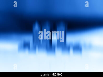 Toy office skyscrapers motion blur abstraction bokeh background - Stock Photo