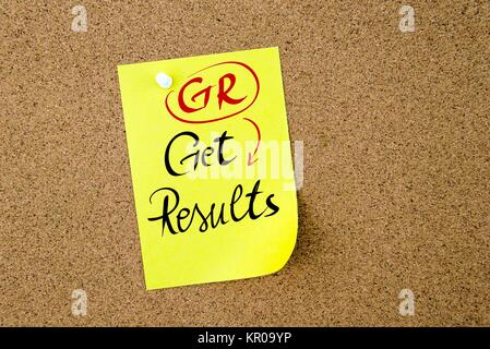 Business Acronym GR Get Results - Stock Photo