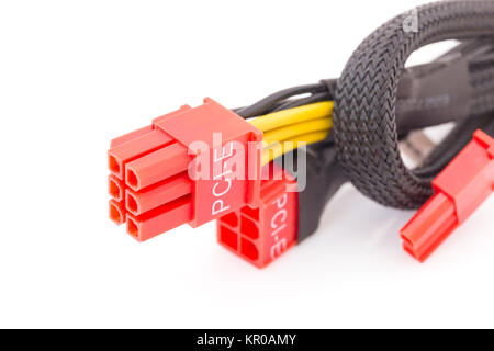 PCI-E cable video card - Stock Photo