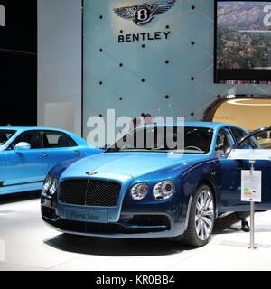 A Bentley Flying Spur displayed at the Frankfurt Motor Show IAA 2017, Germany - Stock Photo