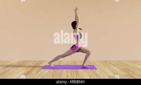 Yoga class greeting pose stock photo 168806760 alamy yoga class warrior salute pose stock photo m4hsunfo