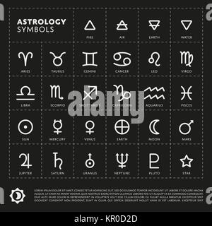 Vector Astrology Signs of the zodiac. - Stock Photo