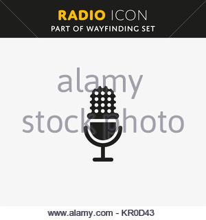 Vector microphone icon - Stock Photo