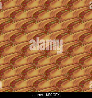 Abstract geometric seamless background. Wavy lines in brown shades with bright green elements diagonally, modern - Stock Photo