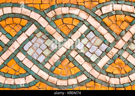 A fragment of an ancient mosaic - Stock Photo