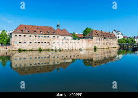 National School of Administration or ENA in the former Commanderie Saint Jean along the ILL Canal, Strasbourg, Alsace, - Stock Photo