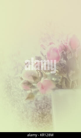 Blurred stylized floral background - Stock Photo