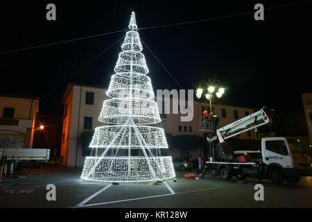 christmas in Porto Ercole, argentario, tuscany, Italy - Stock Photo