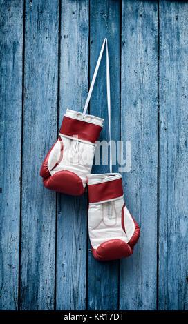 Retro photo of boxing gloves - Stock Photo