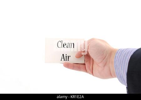 Clean air text concept - Stock Photo