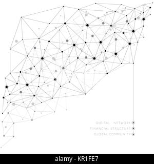 Networks concept and variants of decisions - Stock Photo