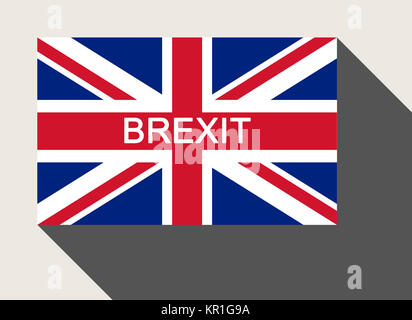 United Kingdom Brexit flag - Stock Photo