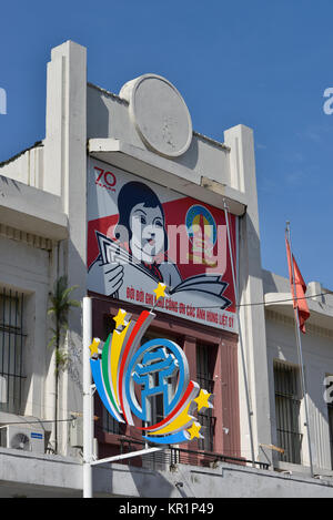 Propaganda, Trang Tien, Hanoi, Vietnam - Stock Photo