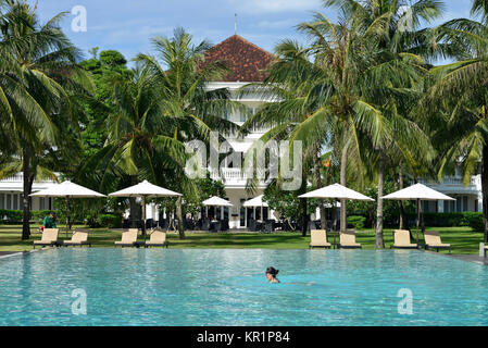 Swimming pool, boutique Hoi in Resort, Hoi In, Vietnam, Swimmingpool, Boutique Hoi An Resort, Hoi An - Stock Photo