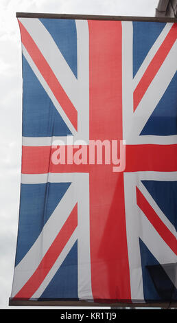 Flag of the United Kingdom aka Union Jack - Stock Photo