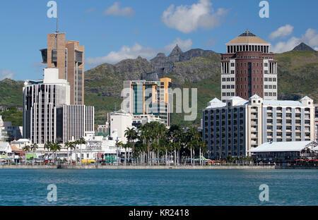 Port Louis cityscape - Stock Photo