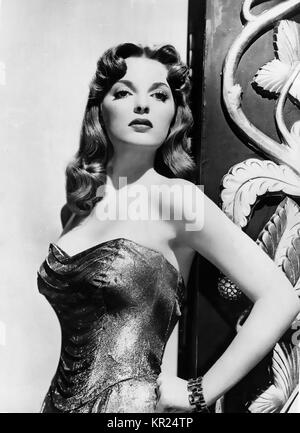 JULIE LONDON (1926-2000) Promotional photo of American singer and film actress about 1958