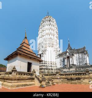 The prang at Wat Phutthaisawan, Ayutthaya, Thailand - Stock Photo