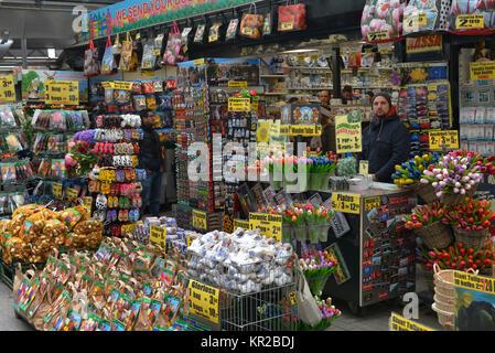 Bloemenmarkt, Singel, Amsterdam, the Netherlands, Niederlande - Stock Photo