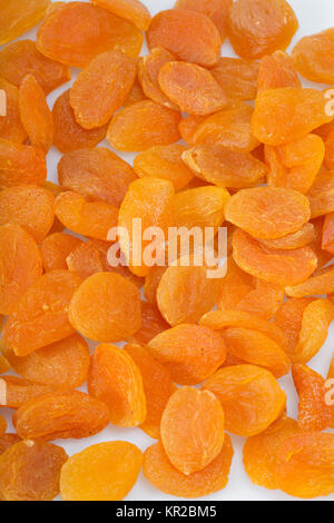 Close up of A heap of dried apricots - Stock Photo