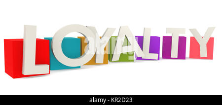 Colorful cubes with loyalty word - Stock Photo