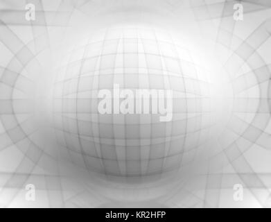 Horizontal black and white 3d sphere abstract illustration background - Stock Photo