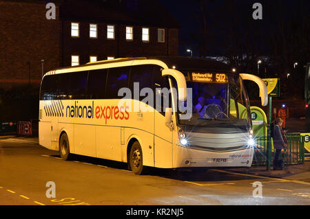 National Express Coach At The Bus Station Leeds West Yorkshire Stock Photo Royalty Free Image
