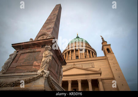St. Nicholas' Church in the Alter market, Potsdam, Germany. - Stock Photo