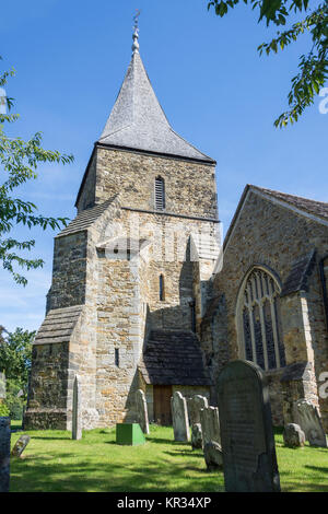 The Parish Church of St Peter and St Paul, Church Street, Edenbridge, Kent, England, United Kingdom - Stock Photo