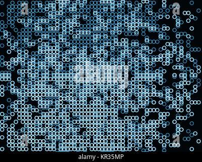 Horizontal dark blue bubbles illustration background - Stock Photo