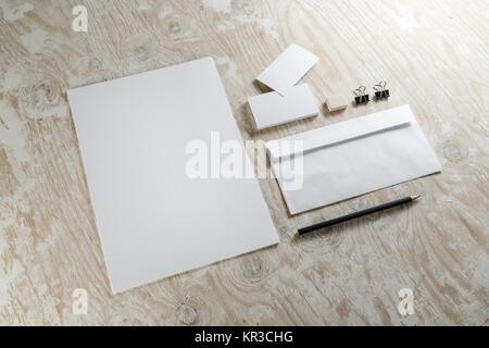 Blank stationery - Stock Photo