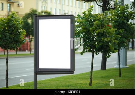 Blank Billboard on City Street - Stock Photo