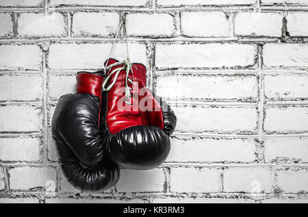 Pair of boxing gloves - Stock Photo