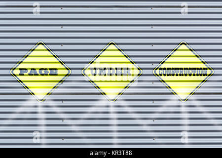 silver color metal end wall corrugated sheet metal for background .. - Stock Photo