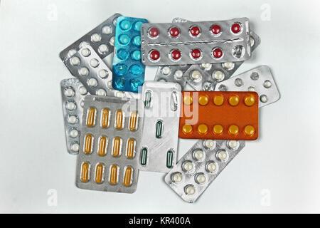 Medicine pills pile - Stock Photo