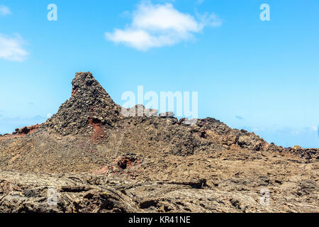 Timanfaya Volcanoe National Park in Lanzarote, Canary Islands, Spain - Stock Photo