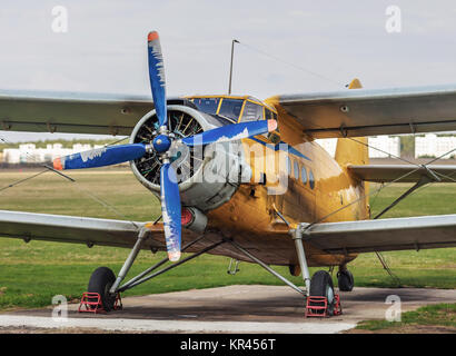 Old vintage airplane - Stock Photo