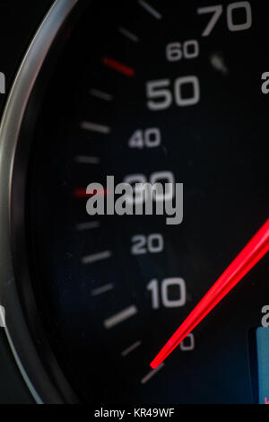 Motorcycle speedometer detail - Stock Photo
