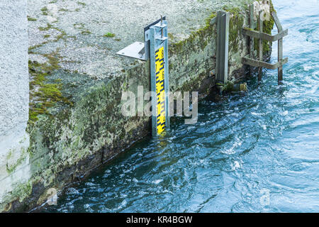 water level indicator in the ruhr - Stock Photo