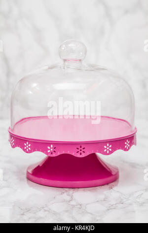 Empty Bell Jar with Pink Ground - Stock Photo