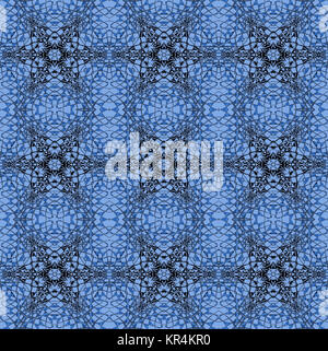 Abstract geometric seamless background. Ornate stars and diamond pattern with black and blue gray elements on light - Stock Photo