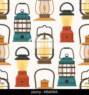 Retro Lantern or Gas Lamp Pattern - Stock Photo