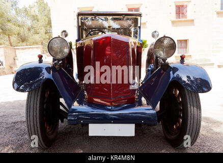 Vintage wedding car outdoors - Stock Photo