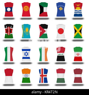 compilation of nationals flag t icon on the white background part 5  10 - Stock Photo