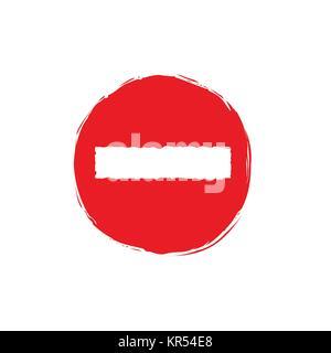 Stop symbol illustration - Stock Photo