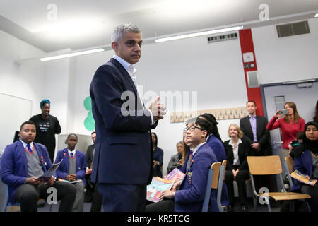 Platanos College, South London. London. UK 18 Dec 2017 - Ahead of the centenary of the first women in the UK securing - Stock Photo