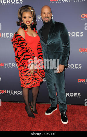 New York, USA. 17th Dec, 2017.  Andra Day(L) and Common attend 11th Annual CNN Heroes: An All-Star Tribute at American - Stock Photo