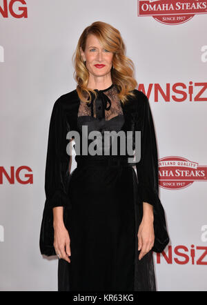 Los Angeles, USA. 18th Dec, 2017. LOS ANGELES, CA. December 18, 2017: Laura Dern at the special screening of 'Downsizing' - Stock Photo