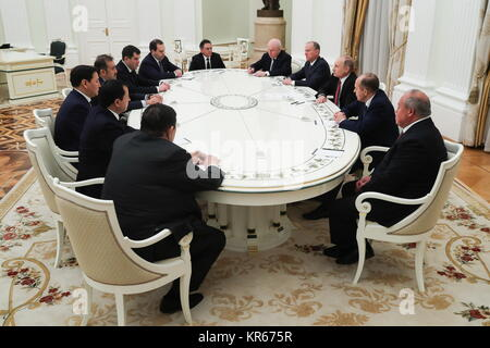 MOSCOW, RUSSIA - DECEMBER 19, 2017: The head of the Commonwealth of Independent States Anti-Terrorism Center Andrei - Stock Photo