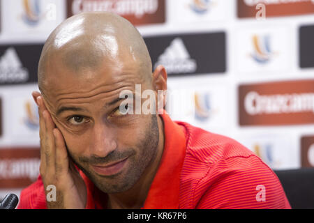 (FILE) A file picture dated 16 August 2016 shows Barcelona's Argentinian midfielder Javier Mascherano attending - Stock Photo